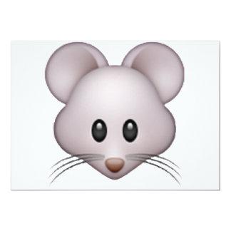 Rato - Emoji Convite 12.7 X 17.78cm
