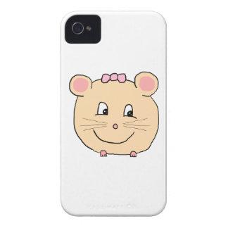 Rato feminino bonito capa para iPhone