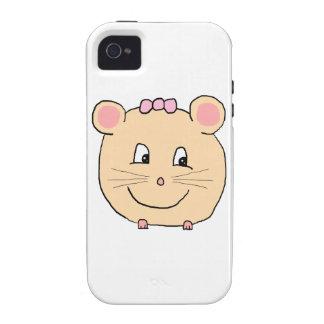 Rato feminino bonito capinhas para iPhone 4/4S
