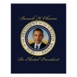 Re-Eleição comemorativa do presidente Barack Obama Posteres