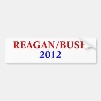 REAGAN/BUSH, 2012 ADESIVO PARA CARRO