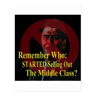 Reagan começou as mentiras e a propaganda cartão postal