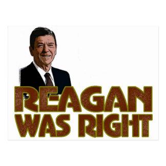 Reagan era direito cartão postal