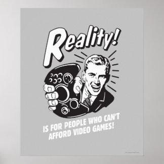 Realidade: Não pode ter recursos para o video game Poster