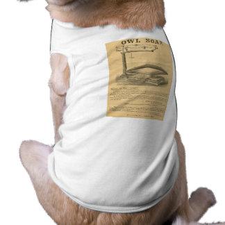 Reardon & sabão da coruja do filho - anúncio do vi camisa sem mangas para cachorro