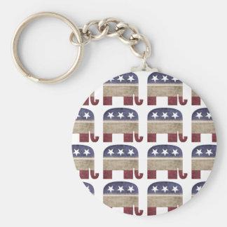 Rebanho do GOP republicano dos elefantes Chaveiro