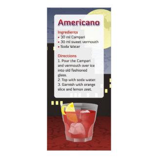 Receita de Americano 10.16 X 22.86cm Panfleto