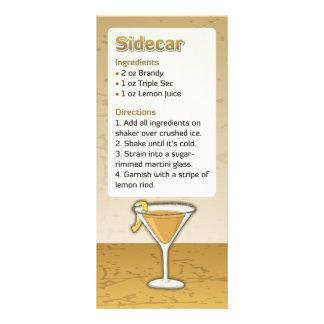 Receita do cocktail do side-car 10.16 x 22.86cm panfleto