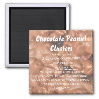 Receita do conjunto do amendoim do chocolate ímã quadrado