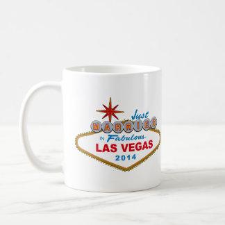 Recem casados em Las Vegas fabuloso 2014 (sinal) Caneca