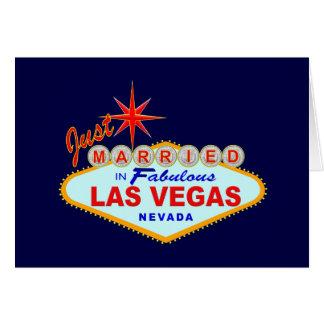 Recem casados em Las Vegas fabuloso Cartão Comemorativo