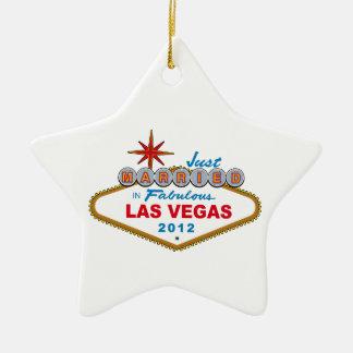 Recem casados no sinal 2012 fabuloso de Las Vegas Ornamento