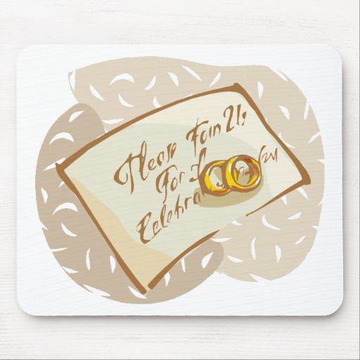 Recepção de casamento 16 mouse pad