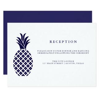 Recepção de casamento clássica do abacaxi do convite 8.89 x 12.7cm
