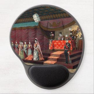 Recepção de casamento do príncipe herdeiro mouse pad em gel