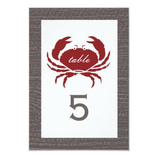 Recepção de casamento rústica do caranguejo convite 8.89 x 12.7cm
