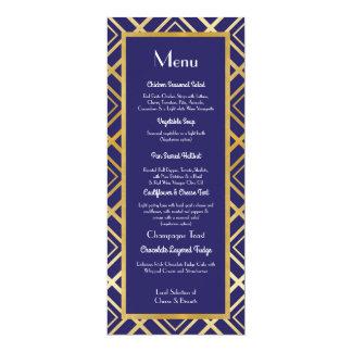 """Recepção dos anos 20 do casamento do menu do convite 10.16"""" x 23.49cm"""