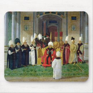 Recepção na corte da sultão Selim III Mouse Pad