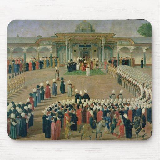 Recepção na corte da sultão Selim III Mouse Pads