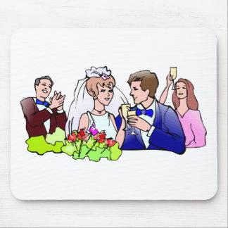 Recepções de casamento 40 mousepad