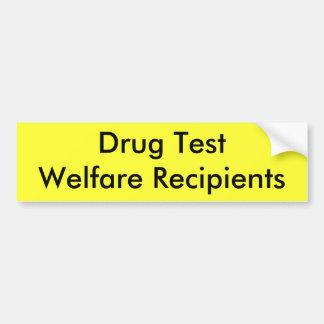 Receptores de TestWelfare da droga Adesivo Para Carro