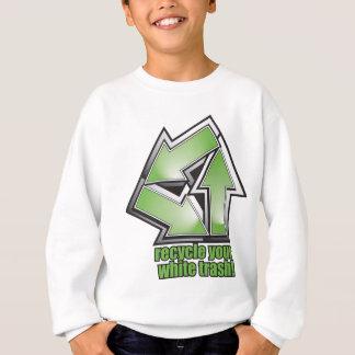 recicl seu lixo branco no verde t-shirts