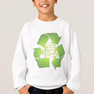 Reciclar, símbolo verde do kanji t-shirt
