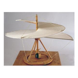 Reconstrução modelo do design de da Vinci Cartão Postal