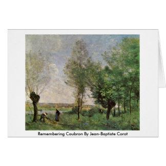 Recordando Coubron por Jean-Baptiste Corot Cartão Comemorativo