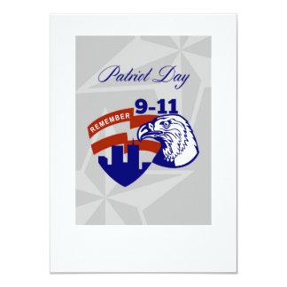 Recorde o poster do dia de 911 patriotas convite personalizados