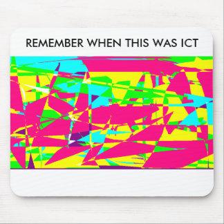 Recorde quando esta era TIC - Mousemat engraçado Mouse Pad