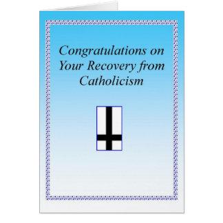 Recuperação católica Congrats Cartão Comemorativo