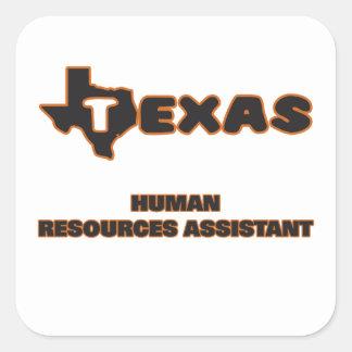Recursos humanos de Texas assistentes Adesivo Quadrado