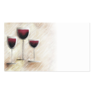 Red wine glass trio business card