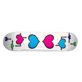 rede do coração shape de skate 19,7cm