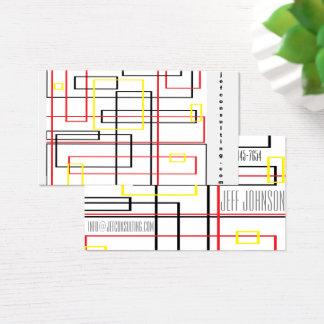 Rede/linhas cartão de visita industrial do teste