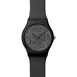 Rede preto e branco do relógio do homem
