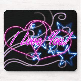 redemoinho cor-de-rosa dos corações do amor com es mouse pad