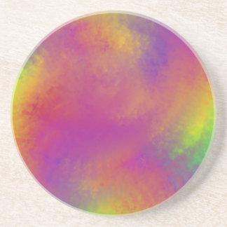 Redemoinho do arco-íris porta copos de arenito