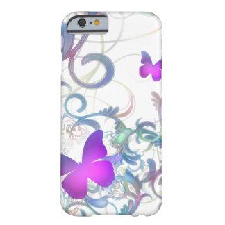 Redemoinho elegante da borboleta capa iPhone 6 barely there