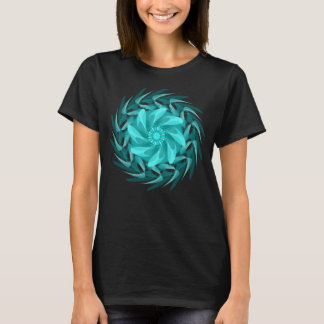 Redemoinho floral abstrato camiseta