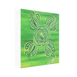 Redemoinho verde impressão em tela