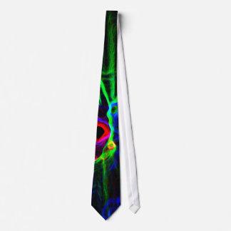 Redemoinhos abstratos da cor, gravatas do escritór