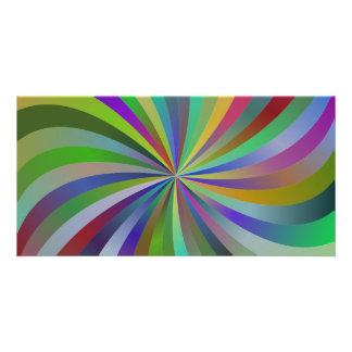 Redemoinhos coloridos cartões com foto