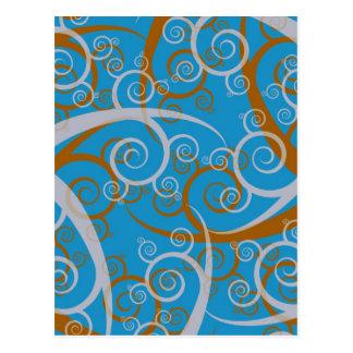 Redemoinhos do azul e da laranja cartão postal