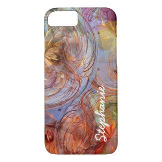 Redemoinhos geométricos florais abstratos capa iPhone 7