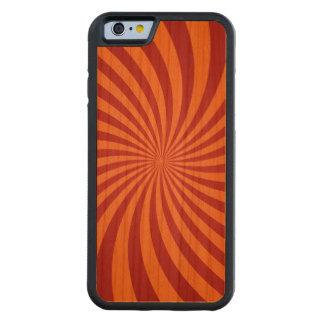 Redemoinhos vermelhos da laranja capa de cereja bumper para iPhone 6