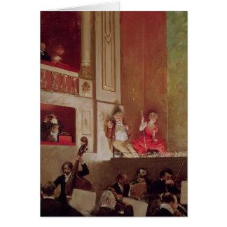 Reexame no DES Varietes do teatro, c.1885 Cartão Comemorativo