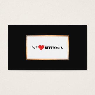 Referência vermelha 2 da apreciação do cliente do cartão de visitas