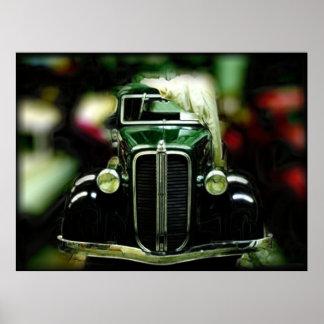 Reflexão de carros clássicos Collectible Poster